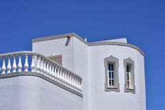 White Summer house against a blue sky royalty free stock images
