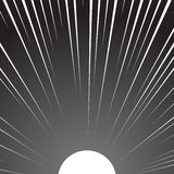 White sun on a black background. Engraving style Stock Images