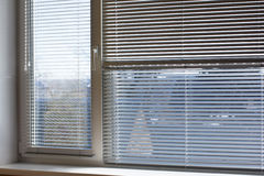 White sun-protection jalousie Royalty Free Stock Images