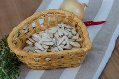 White sunflower seeds Royalty Free Stock Photo