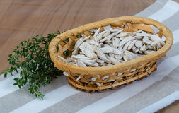 White sunflower seeds Royalty Free Stock Images