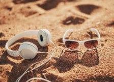 White sunglasses Stock Photography