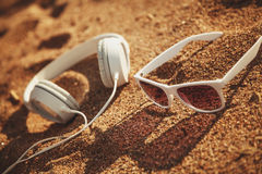 White sunglasses Stock Images