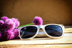 White sunglasses Royalty Free Stock Image