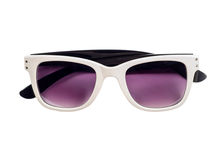 White sunglasses Stock Images