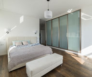 White sunny bedroom Royalty Free Stock Photo