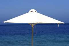 White sunshade Royalty Free Stock Photos