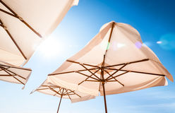 White sunshades Royalty Free Stock Images