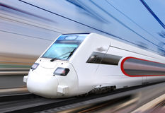 White super streamlined train Stock Images