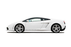 White supercar stock image