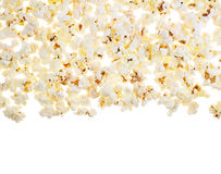 White surface covered with the popcorn Stock Photo