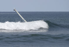 White Surfboard Wipeout Stock Photos