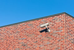 White Surveillance Camera Stock Photo