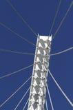 White Suspension Bridge Royalty Free Stock Image