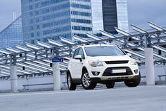 A white SUV Stock Images