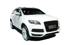White suv audi q7 Royalty Free Stock Photography