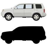 White SUV Stock Image