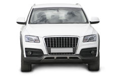 White SUV isolated Royalty Free Stock Image