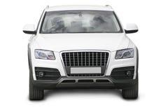 White SUV isolated Royalty Free Stock Image