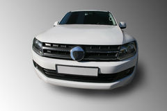 White SUV it is isolated Royalty Free Stock Photos