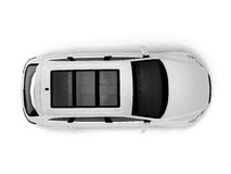 White SUV top view Royalty Free Stock Image