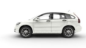 White SUV 4X4 - Side View Royalty Free Stock Images