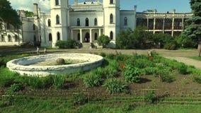 White Swan castle in Sharivka park, Kharkiv region stock video