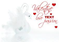 White swan decoration Royalty Free Stock Image