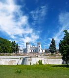 The White Swan palace . Sharovka, Ukraine. Royalty Free Stock Photography