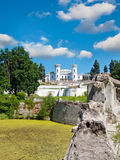 The White Swan palace. Sharovka, Ukraine. Stock Photos