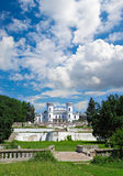The White Swan palace on sky background. Royalty Free Stock Image