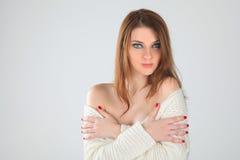 White sweater Royalty Free Stock Image