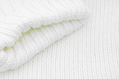 White sweater. Close up of a white knit sweater Stock Images
