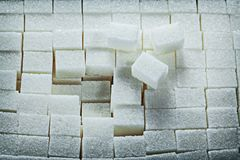 White sweet sugar cubes food concept Royalty Free Stock Photography