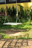 White swing in the nature Stock Photography