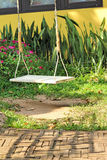White swing in the nature Royalty Free Stock Images