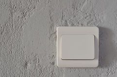 White Switch. Simple feel good white switch Stock Photos