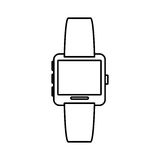 White symbol smartwatch button icon. Image,  illustration Royalty Free Stock Photo