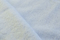White Synthetic Woolen Towel. Texture Royalty Free Stock Images