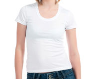 White t-shirt Royalty Free Stock Photography