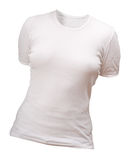 White t-shirt. White blank t-shirt template. Front view. Isolated with clipping path Stock Photos