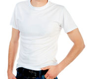 White t-shirt Stock Images