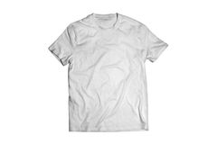 White T-shirt. Classic white shirt on a dark background Royalty Free Stock Photos