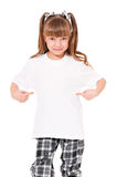 T-shirt on girl Stock Photography