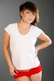 White t-shirt fashion Stock Photography