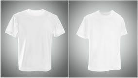 White T shirt on gray background royalty free stock photos