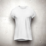 White t-shirt isolated on grey background Stock Images