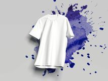 White T-shirt on light background, 3d rendering Stock Photography