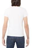 White t-shirt on man back Royalty Free Stock Image
