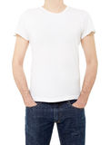 White t-shirt on man Stock Image
